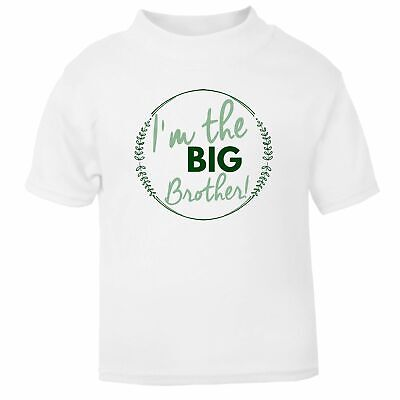 I'm The Big Brother T Shirt White TShirt New little sister Brother Personalised