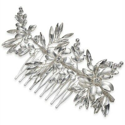 INC International Concepts Womens Crystal Flower Hair Comb $45 Wedding Bridal