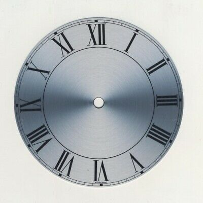 Spun Silver Replacement Clock Dial 6 inches 152mm Roman Numeral Clocks - CD461