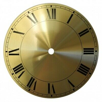 Spun Brass Finish Replacement Clock Zone Dial 5 inches 127mm Roman Numerals CZ25