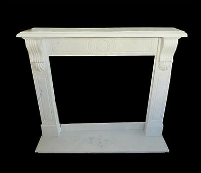 Rahmen Kamin Kamin in Weißer Marmor Klassisch Old Fireplace Marble Frame Top!