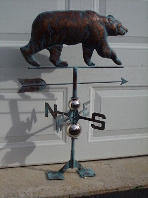 Bear Weathervane Antiqued Copper Finish Weather Vane HandCrafted