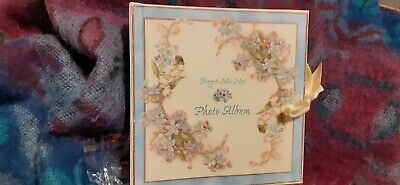NEW Past Times Photo album/Forget-Me-Not  In packaging Ideal Valentines Gift