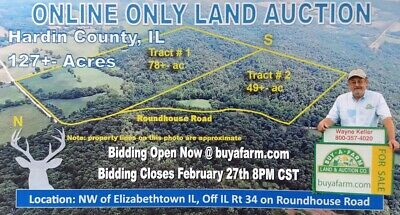 Online-Only Illinois Land Auction. Hunting - Acreage - Real Estate - Ground