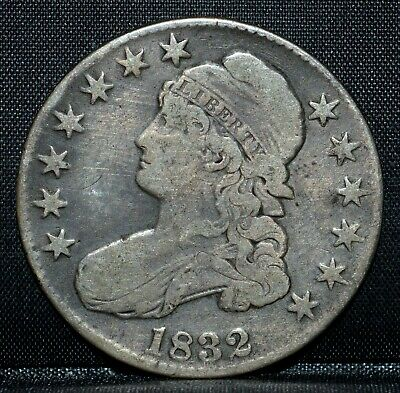 1832 Capped Bust Half Dollar ✪ Vf Very Fine ✪ 50C Silver Small Letters ◢Trusted◣