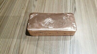 Copper Ingot Bullion Bar  3.9 Kg   Hand Poured (A-003-Cu)