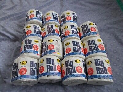 Lot of 15 Big Roll White Bathroom Tissue 1 Ply 1000 Sheets per Roll Toilet Paper