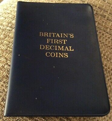 UK 1968 & 1971 Britain's First Decimal Coins Set Uncirc. 10 5 2 1 1/2 New Pence