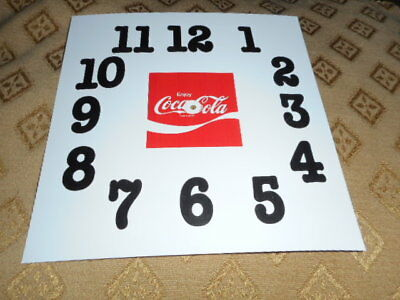 """5 1/2"""" Coca Cola Square Paper (Card) Dial - GLOSS WHITE - Parts/Dial/Spares"""