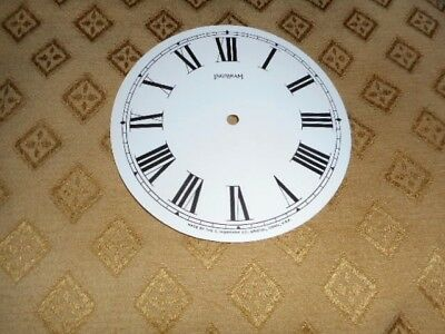 For American Clocks-Ingraham Paper (Card) Clock Dial -125mm M/T- WHITE-Spares