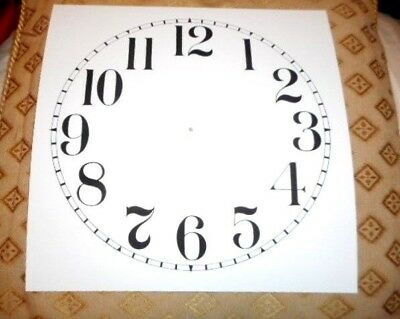 "Large Paper (Card) Clock Dial - 9"" M/T- Arabic - MATT WHITE -  Parts/Spares"