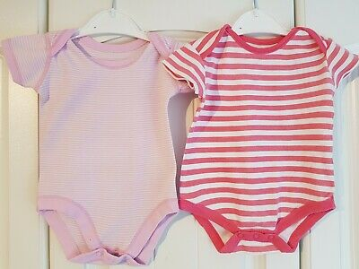 Baby Girls 3-6 Months Short Sleeved Vests (A485)