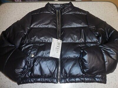 M And S Shower Resistant Navy Puffa Style Jacket Age 8-9 Years Bnwt