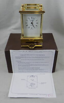 8 Day Brass Carriage Clock - F A Gluck Ltd. (L'epee) - Boxed - Fully Serviced