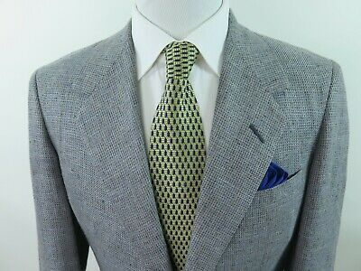 Oxxford Clothes Curators Choice Mens Wool Speckled Blazer Jacket Sport Coat 38 R