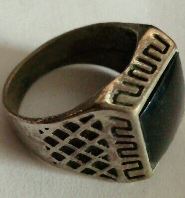 Extremely Ancient Roman Ring Metal Color Silver Ring Amazing