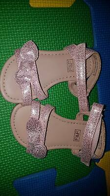 Baby girls pink sandals size 6 f and f