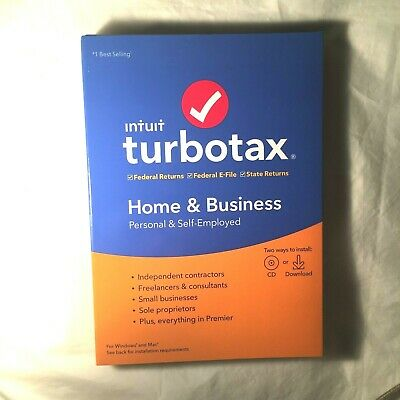 Intuit TurboTax 2019 Home & Business Federal + E-File + State.no returns. .