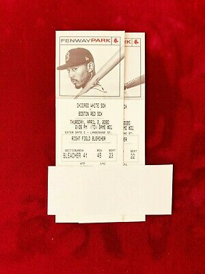 Baseball TICKETS Red Sox Opening Day April 2,2020 at Fenway Park