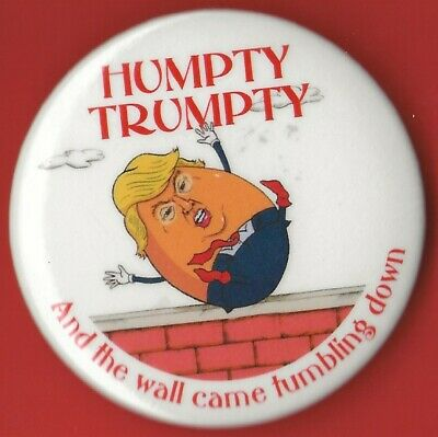 "2016 Anti Donald Trump  3/"" Large Size xmas // /""Trumpty Dumpty/"" Button"