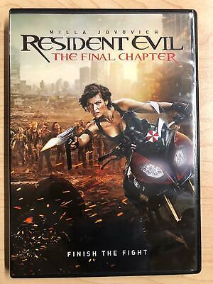 Resident Evil The Final Chapter (DVD, 2016) - F1230