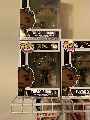 NEW RARE FUNKO ROCKS POP 158 2PAC TUPAC SHAKUR Mint Guarantee