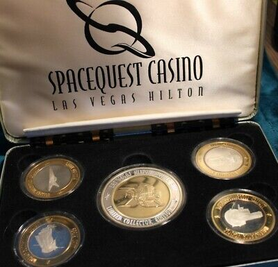 1998 CC SPACEQUEST CASINO LV HILTON 6.4 Ounces .999 FINE SILVER STRIKES