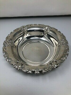 """Wallace Grande Baroque Sterling Silver Round Vegetable Bowl 10 1/4"""" 4207"""