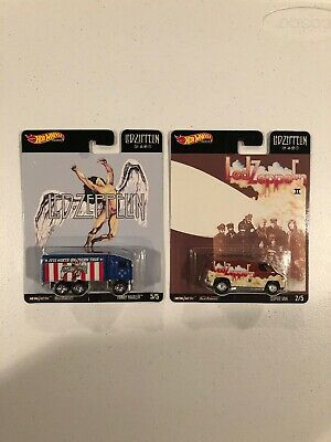"Hot Wheels Pop Culture Led Zeppelin HIWAY HAULER & SUPER VAN (Lot Of 2) ""MINT"""