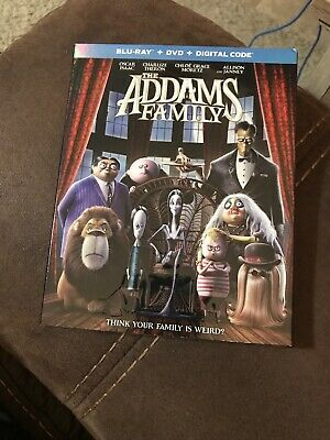 The Addams Family (Blu Ray + DVD + Digital) [2019] Brand New with Slipcover