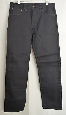 LEVI STRAUSS 501 Original Fit Red Tab Blue Jeans Dark Wash Denim Mens 36x34