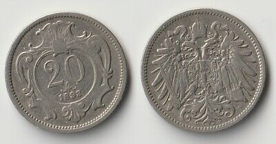 Circulated 1893 Austria 2 Heller 1 Coin Only 3 Available