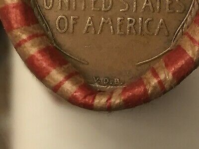 Wheat/Indian Head penny roll with 1909 VDB pennies on both ends of roll!