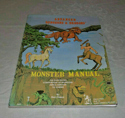 Advanced Dungeons & Dragons Monster Manual UK Softcover 3rd Edition December 78