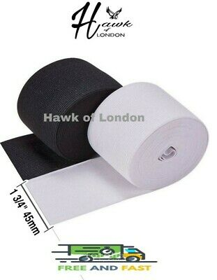 45Mm Top Quality Black/White Flat Woven Elastic Bands Sewing Various Lengths