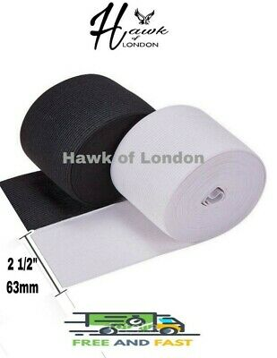 20MM TOP QUALITY BLACK//WHITE FLAT WOVEN ELASTIC BANDS SEWING VARIOUS LENGTHS