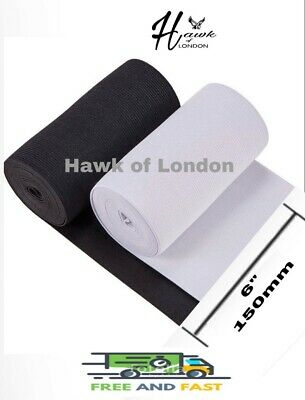 150Mm Top Quality Black/White Flat Woven Elastic Bands Sewing Various Lengths
