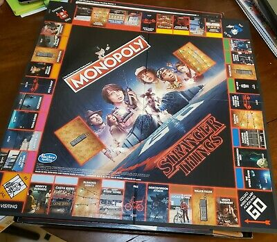 Stranger Things Monopoly Board Game Netflix Series TV Show Hasbro 2017 Complete