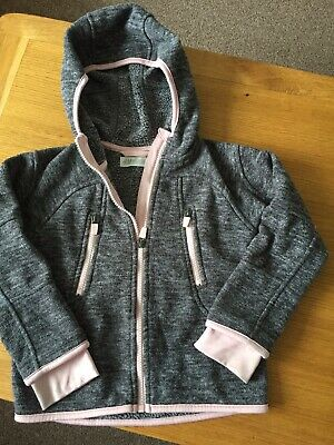 H&M Girls Fleece Jacket With Hood Age 4-6