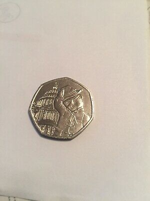 Paddington  Bear at St Pauls Cathedral 50p coin 2019