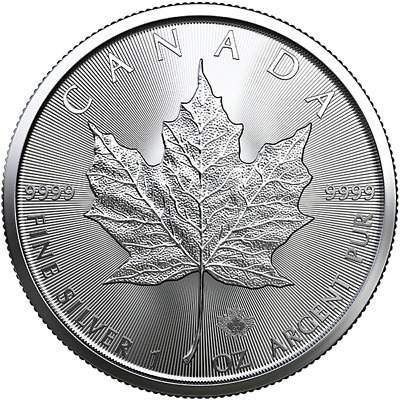2020 - 1 oz Silver Canadian Maple Leaf Coin 0.9999 - FREE SHIPPING !!!