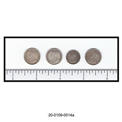 Lot of Four Canadian Silver Coins