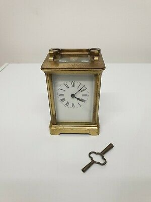 Antique C1900 Brass Carriage Clock French