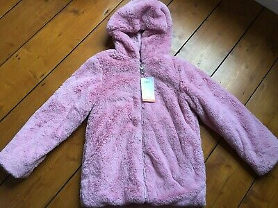 BNWT Girls pink coat with hood, Marks& Spencer, age 9-10 years