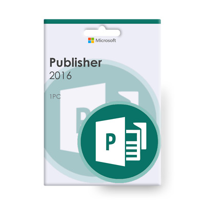 Microsoft Publisher 2016 for Windows | 1-PC | Downloadable products