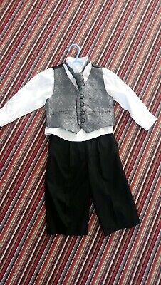 Boys Red Herring Grey Black Suit Age 2 Excellent Condition Wedding Paige Boy