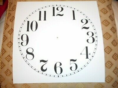 "Square Paper (Card) Clock Dial - 8"" M/T - Arabic -  MATT WHITE -  Parts/Spares"
