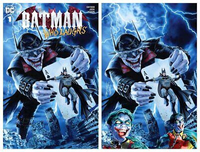 Batman Who Laughs #1 Mayhew Modern Trade/Virgin Variant Set Limited To 700 Sets