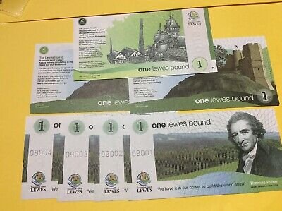 England - Lewes £1Pound 2009 UNC Local Currency Banknote -