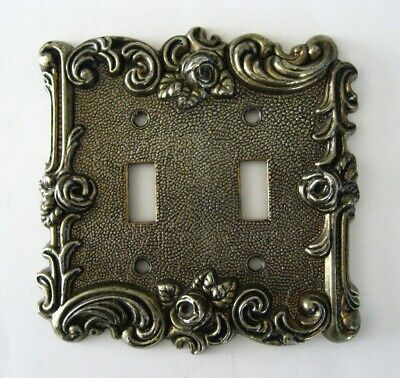 Vintage American Tack & Hardware Hollywood Regency Double Light Switch Plate